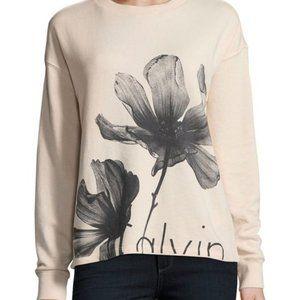 Calvin Klein Flower Sweatshirt Small